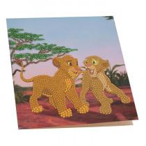 Crystal Art Card Disney Simba & Nala