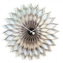 Wanduhr Sunflower Clock Birken Schwarz