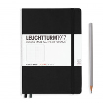 Leuchtturm1917 Notizbuch Medium Hardcover A5 schwarz, punktkariert
