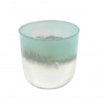 Windlicht Glas türkis