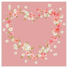 Servietten Blütenherz Rosé