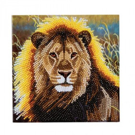 Crystal Art Card  Resting Lion