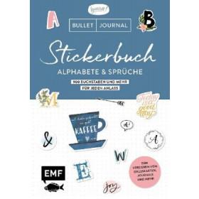 Bullet Journal- Stickerbuch Alphabete und Sprüche: 1000 Buchstaben und mehr für jeden Anlass