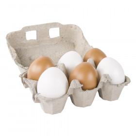 Set Plastik-Eier braun/weiss, ø 6cm