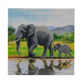 Crystal Art Card Elephant