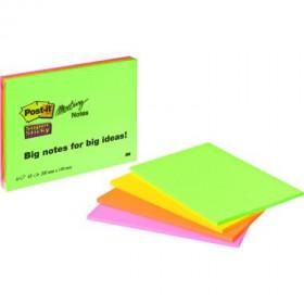POST-IT Meeting Notes 4x45Bl 4 Neonfarben 200x149mm 6845-SS