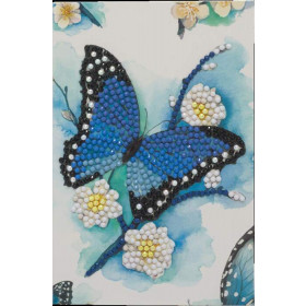 Crystal Art Card Blue Butterfly