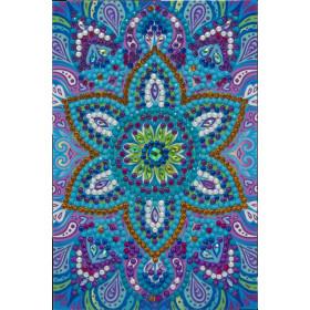 Crystal Art Card Blue Mandala