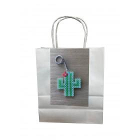 """Bastelset Anhänger """"Kaktus"""" mit Bügelperlen"""