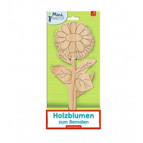 Holzblumen zum Bemalen