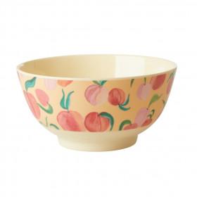 Melamin Bowl Peach Print
