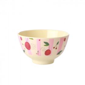 Melamin Bowl Small Cherry Print