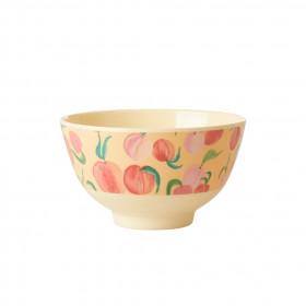 Melamin Bowl Small Peach Print