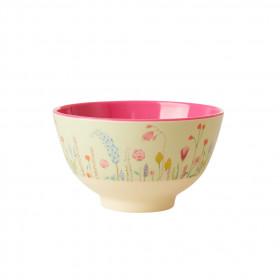 Melamin Bowl Small Summer Flowers Print