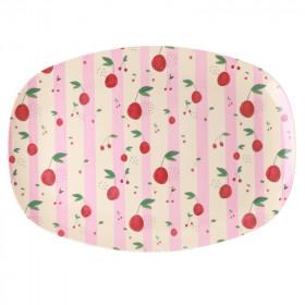 Melamin Platte Cherry Print
