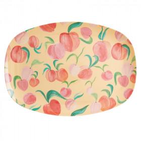 Melamin Platte Peach Print