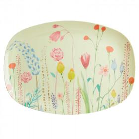 Melamin Platte Summer Flowers Print