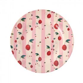 Melamin Teller Cherry Print