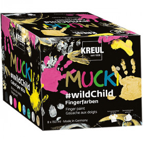"MUCKI Fingerfarbe Premium Set ""wildChild"", 8 x 150 ml"
