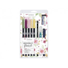 Brushpen Watercolor Set Floral