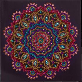 Crystal Art Card Purple Mandala