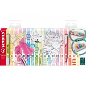 STABILO Pastell Textmarker swing cool 18er Tischset