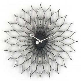 Wanduhr Sunflower Clock Esche Schwarz