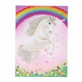 Crystal Art Card Unicorn Rainbow