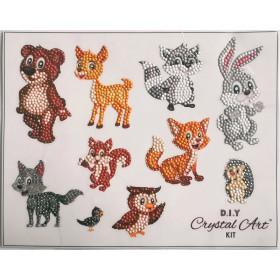 Crystal Art Sticker-Set Friendly Forest Animals