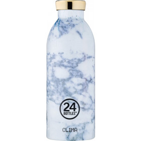 Trinkflasche weisser Marmor 0.5l