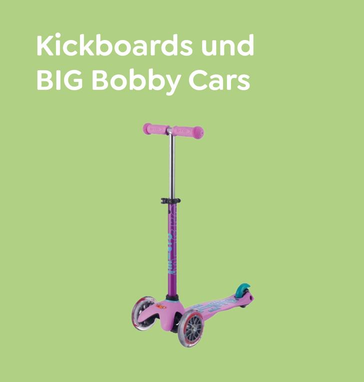 dadodo Kickboards und BIG Bobby Car