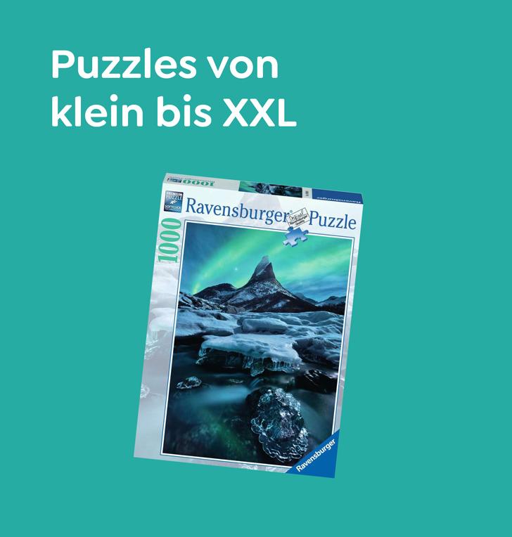Puzzles von klein bis XXL